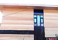 Отделка фасадов вагонкой из лиственницы