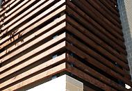 Деревянная отделка фасадов планкеном из лиственницы